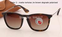 100% uv protection fashion brand name women men sunglasses polarized 4187 865/13 tortoise brand name glasses rb 4187 in box case