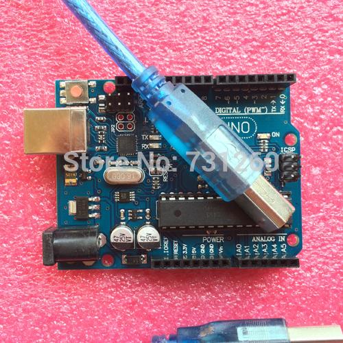 UNO R3 для Arduino (с ЛОГОТИПОМ) UNO R3 MEGA328P ATMEGA16U2 5 ШТ. + 5 ШТ. кабели open smart uno atmega328p development board for arduino uno r3