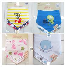 Baberos 100% Cotton BABY BIBS 2014 Babador Bandana Carters 3Pc/lot Baby Boy Girls Bibs Baby Bandanas BIB Cravat Infant Towels K7(China (Mainland))