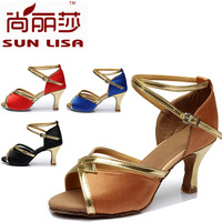 4Color New Style Free Shipping Gorgeous Women's Ladies Latin Tango Ballroom Salsa Heeled Dance Shoes WZSP807 7cm Heel High