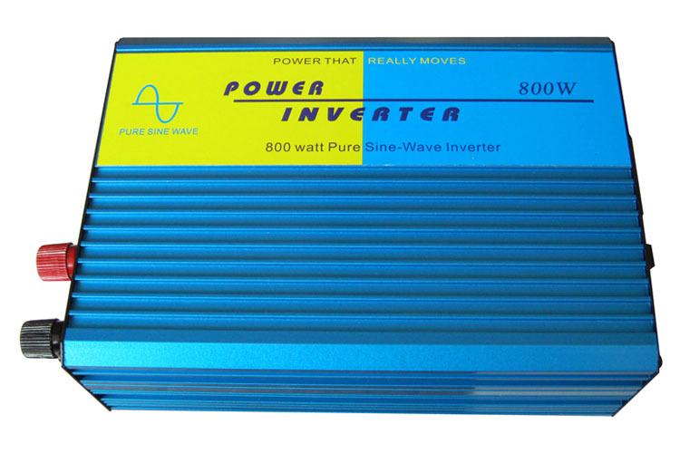High efficiency Home inverter , DC12V to AC110V/220V 800W Pure Sine Wave Inverter off grid tie, portable solar power inverter(China (Mainland))