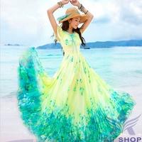 Plus Size New Fashion Woman Clothes Boho Casual Beach Long Cotton Dress Maxi Evening Party Dresses Floral Print Dresses 05590