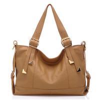 2014 New Genuine Leather Women Handbag Belt Decoration Shoulder Bag Fashion Women Messenger Bags Trendy Women Leather Handbag
