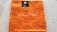 Orange color different designs african headtie,REGULAR HEADTIE for wedding and party,swiss mode original headtie