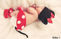 Free shipping 2014 new fashion Mickey design soft and comfortable Baby knitwear photography props Baby clothes