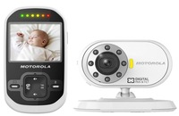 Free shipping!Brand Motorola MBP26 Digital&Wireless baby monitor 2.4inch/2.4G/Nightvision/Rechargeable battery detector fetal