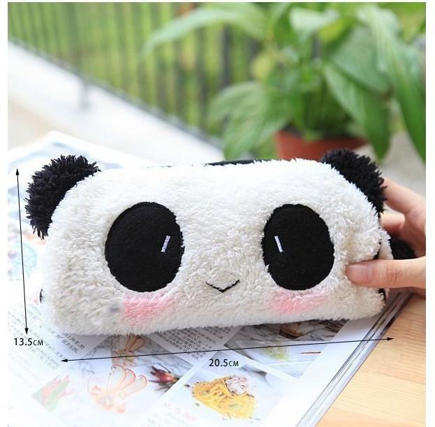 3pcs/lot cute creative students cartoon panda plush Pencil free shipping(China (Mainland))