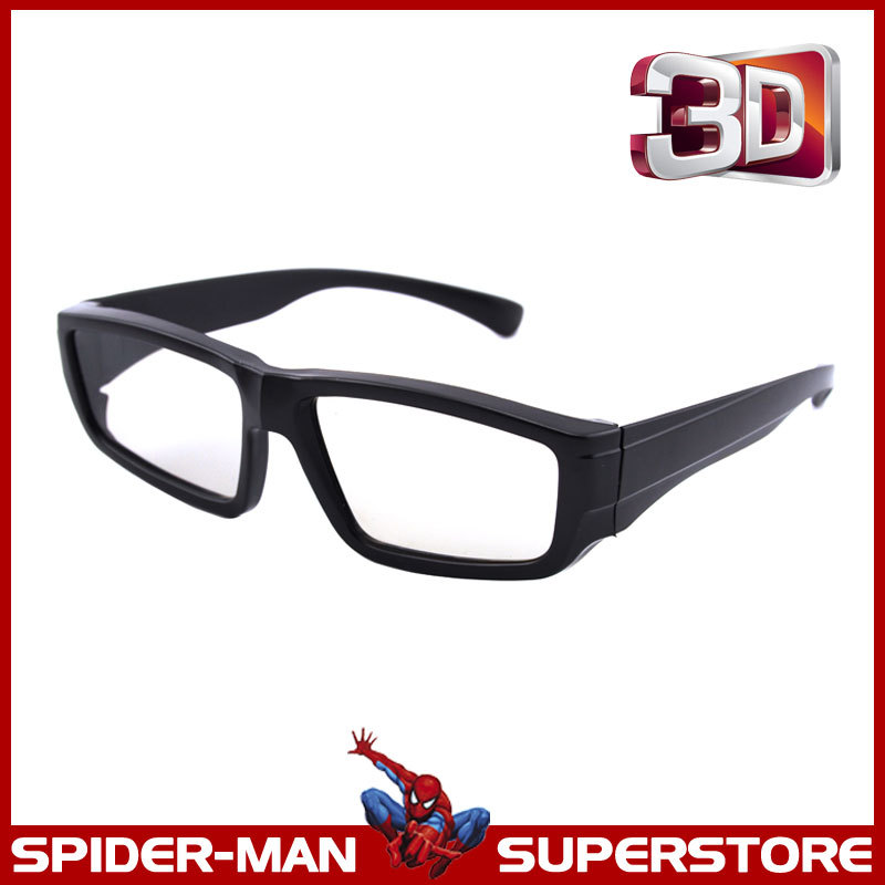 (3 pieces/lot) Quality Plastic Passive Polarised Circular 3D Glasses for FPR LG Passive 3D TVs and 3D RealD Cinema System(China (Mainland))