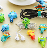 S 7152 free shipping  earphone cable winder cartoon animal silicone headphone cable organizer