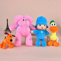4pcs/lot 26CM Pocoyo  Classic Baby Kids Soft Plush Toys Doll Yoyo Pato Loula Dolls Soft Cuddly Toys for Boys and Girls