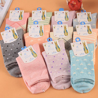 Free Shipping,Retail 2014 Hot Sell New Women Autumn Winter Essentials High Quality Cotton Socks,Female Casual Hosiery