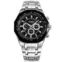 2014 Top Fasion Hardlex 20mm To 29mm Hot Sell Fashion Watch Men's Sports Watches Curren 8084 Quartz Men Full Steel Atmos Clock