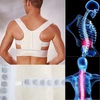 Hot 1Pcs Adjustable Unisex Magnetic Posture Support Corrector Elastic Back Shoulder Posture Care Corrector Belt L/XL ic871349