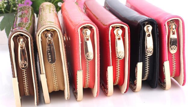 Fashion design leather wallet purse, women's zipper fashion trend purses party handbags best selling phone ba(China (Mainland))