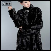 Cheap women mink fur coat/ joint mink fur coat/ black fur coat/women overcoat