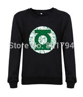 2014 New arrival fashion women/men sweatshirts DC Comics Green Lantern Distressed big bang hoodies hoddes print design fleece