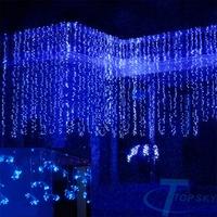 HOT 2014 6Mx3M 800LED Outdoor Christmas xmas String Fairy Wedding Curtain Light With Tail Plug EU/220V guirlande lumineuse
