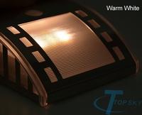 New item Waterproof Solar Powered Wall Light 3 LED Outdoor Lighting Lamp Sound Sensor Energy-saving Garden Lampada ao ar livre