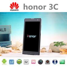 "Original Huawei honor 3C Cell Phones MTK6592 Octa Core 2G RAM 16G ROM WCDMA 3G 5.0""IPS Android 4.4 Dual SIM Smart Mobile Phone(China (Mainland))"
