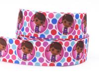 """2014 New 7/8"""" (22mm) Doc Mcstuffins Ribbon Printed Grosgrain Cute Girl Ribbon For DIY Packing 50yard/lot"""
