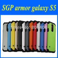 New Hot !!Original  Tough Armor SPIGEN SGP Case for Samsung Galaxy S5 Hard Mobile Phone Cover Bags 1pcs Retail 10 Colors