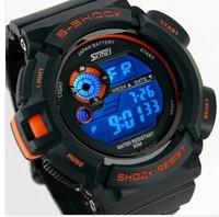 Fashion  Watches Dual Time LED Digital Quartz Multifunctional 30m Waterproof Swim  Sports Watch