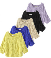 Fast/Free shipping New 2014 European Female Loose Casual Kintted O-neck Pullover Women Sweater Autumn Clothing 8
