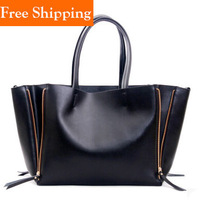 Fashion Hotsale Special Offer Geniune Leather Restore Ancient Inclined Big Women Cowhide Handbag Shoulder Celebrity Shopping Bag