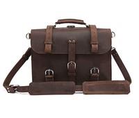 """100% Crazy Horse Leather Men's Backpack Laptop Bag Dispatch Totes Travel bag Huge 16.5"""" # 7072R"""