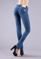 New 2015 women stretch jeans woman's cotton denim jeans pants | famous brand jeans for women size 25-33 low waist jeans