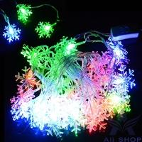 5M 28 LED Snowflake Led String Fairy Light Xmas Party Wedding Garden Light Lamp Decoration Christmas Lights Luzes De Natal T1337