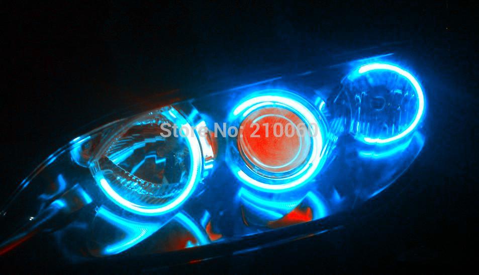 2x 12V DIY power interface Details about Blue Car CCFL Angel Eyes Led Neon Halo Ring Light Headlight Decorative Lamp Kit parking(China (Mainland))
