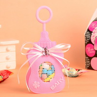 Free Shipping 60Pcs Baby Bottle Design Non Woven Fabric Candy Gift Bag/Box/Bags