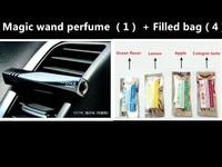 2014 HOT 5PCS Magic Wand Car Perfume Balm Car Air Freshener Fragrance Free shipping