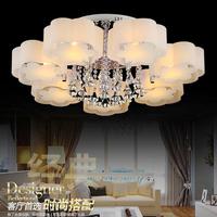 Remote Control E27 Modren LED Crystal Ceiling Lamps Magic Color Pendant Lights Decoration Intelligent Chandeliers Lighting Gift