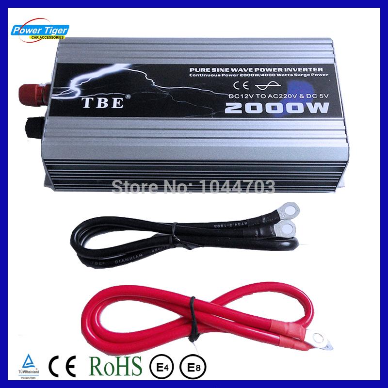 Инверторы и Преобразователи Powertiger 2000W DC 12 AC 220V USB 4000W TP12v-2000w воблер tsuribito minnow f цвет 535 60 мм