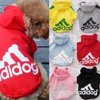 Pet Dog Clothes Coat Hooded Cotton Sweater Winter Autumn S/M/L/XL 6Colors