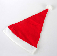 Free shipping 10pcs New Year Christmas Decoration Ornaments 23*33cm Santa Claus Father Xmas Cloth Cap Christmas Gift Christmas