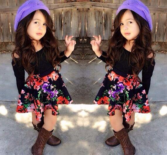 Children's clothing 2014 autumn winter kids clothes sets girls o neck hoodies full sleeve+skirt 2pcs/set tracksuit clothing(China (Mainland))