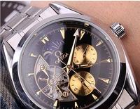 New 2014 watch Mechanical Watch Stainless steel Wristwatches fashion watch automatic hand wind watch