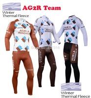 High quality!2014 AG2R Bike MTB Winter Thermal Fleece Cycling Long Jersey + bicicleta bib Pants Ropa Ciclismo Clothing Hot Sale!