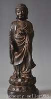 christmas decoration [Wood crafts]  China Buddhism Rosewood sandalwood Carving sakyamuni Shakyamuni Amitabha Statue