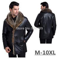 Winter Supreme Imported Clothing Genuine Leather Mens Jacket  Men's Fur Coat Fur Lined Leather Jacket Mens Sheepskin Coats