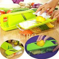 2014 new multifunctional shredder salad vegetable cutter set salad sliced shredded vegetable dishes device Kit
