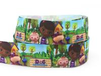 "2014 New 7/8"" (22mm) Doc Mcstuffins Party Ribbon Printed Grosgrain Cute Girl Ribbon For DIY Packing 50yard/lot"