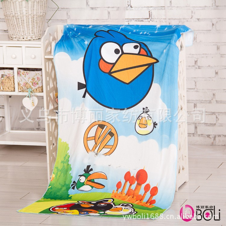 Microfiber Fabric Baby Bath Towel Cartoon Printed Bathroom Accessories 70*140cm Home Textile Beach Towels toalha infantil(China (Mainland))