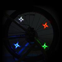 Bicycle Cross Spoke Lights Bat Silicone Light MTB wire lights Hot Wheels super-bright glare BIKE lights CD13