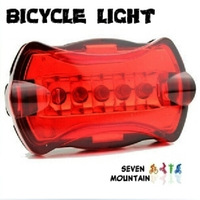 Bike lights Bicycle taillights Butterfly 5 LED red light Waterproof and shockproof taillight Warning lights CD06