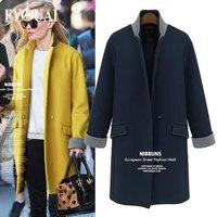 FYOUAI New fashion woollen coat for women classical loose thicken casual winter coat casacos femininos outdoor female overcoat