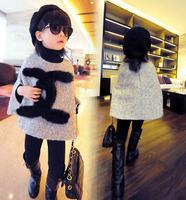 wholesale(5pcs/lot)-child F3320 girl autumn and winter Doll coat Cloak